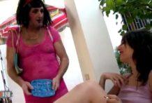 Liz Rainbow, Escena porno muy freaky