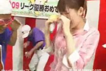 Bukkake para joven presentadora japonesa