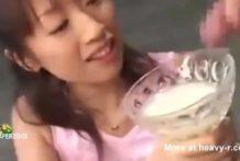 Asiática bebe 157 cargas de esperma