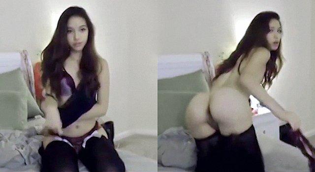 Novata por la webcam