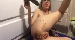 Sexo anal masturbación con caca