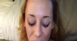 Puta amateur esperma en su cara