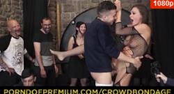 Follada extrema BDSM y rueda de bondage con Tina Kay
